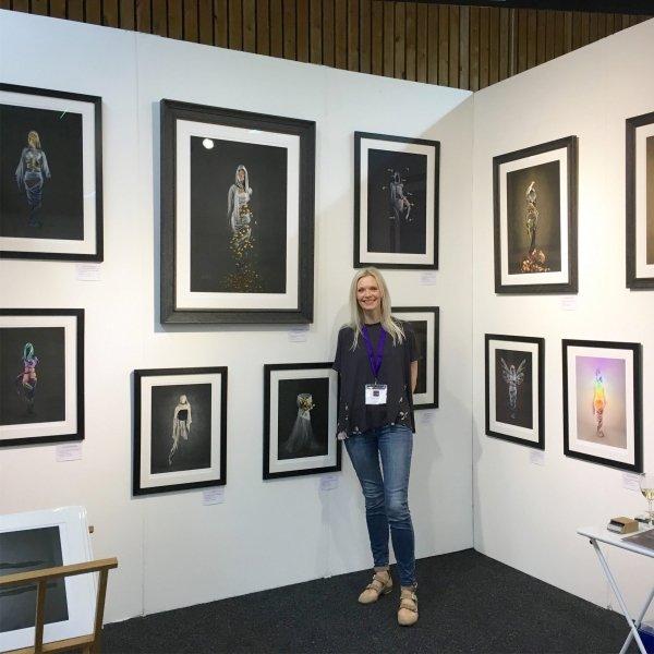 Kirsteen Titchener at an art fair